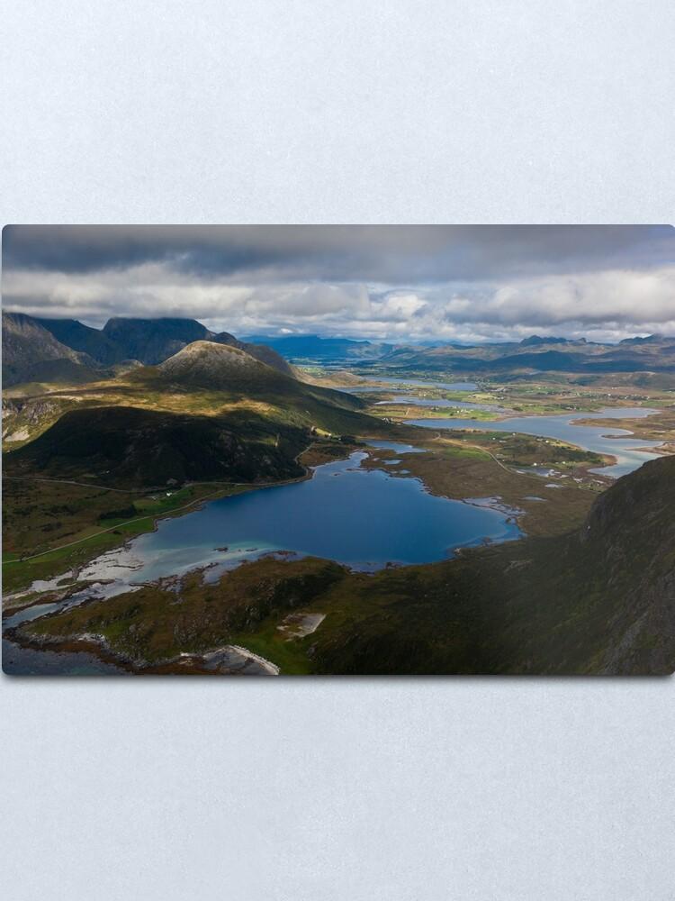 Alternate view of Landscape of Norway (3 of 3) Metal Print