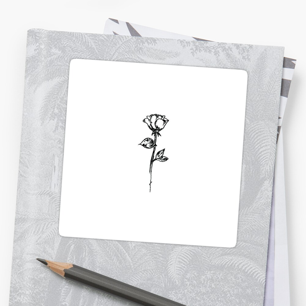 aesthetic rose  Sticker