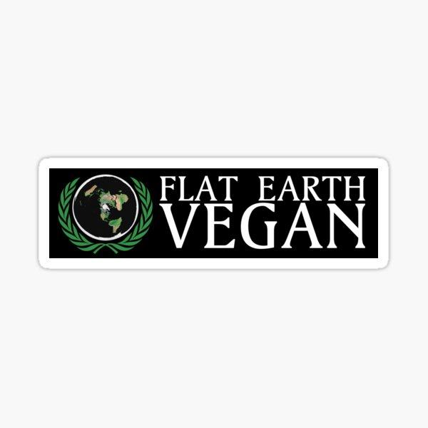Flat Earth Vegan  Sticker