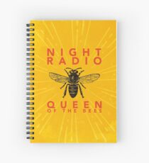 Night Radio - Queen of the Bees Album Cover Spiral Notebook