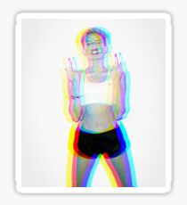miley cyrus trippy picture Sticker