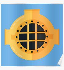 Diver Helmet Poster