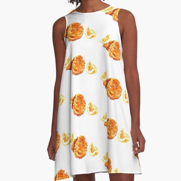 CHICKEN SCHNITZEL A-Line Dress