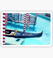 Classic Gondola boat and blue water Sticker