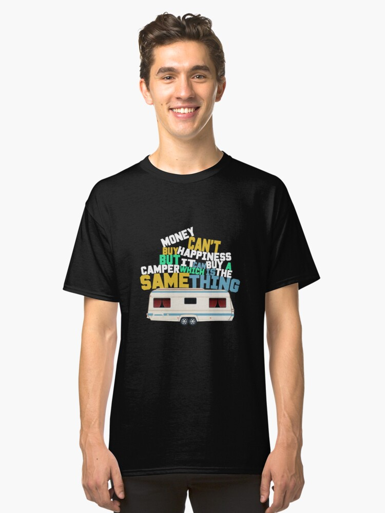 Money Can't Buy Happiness Art Design Classic T-Shirt Front