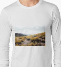 vintage style yellow poppy flower field with summer sunlight T-Shirt