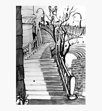 Stairs from the Yarra River to Flinders Street Station Photographic Print