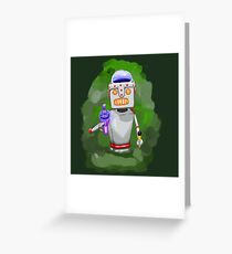 Robot Overlord Greeting Card