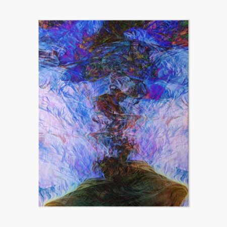 Neural Explosion Abstract Art Art Board Print