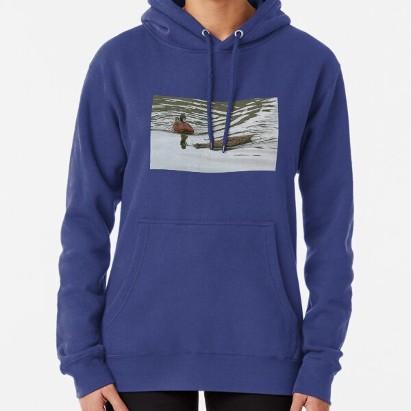 Chestnut Teals - mating (4114) Pullover Hoodie