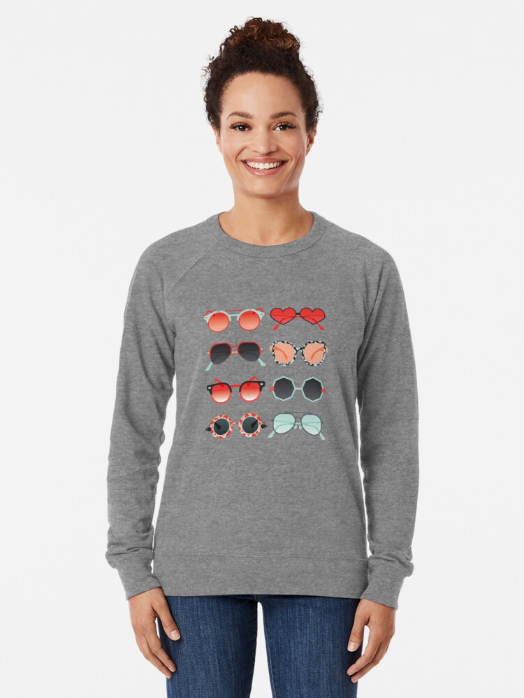 Alternate view of Sunglasses Collection – Red & Mint Palette Lightweight Sweatshirt