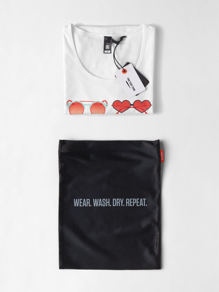 Alternate view of Sunglasses Collection – Red & Mint Palette Premium Scoop T-Shirt