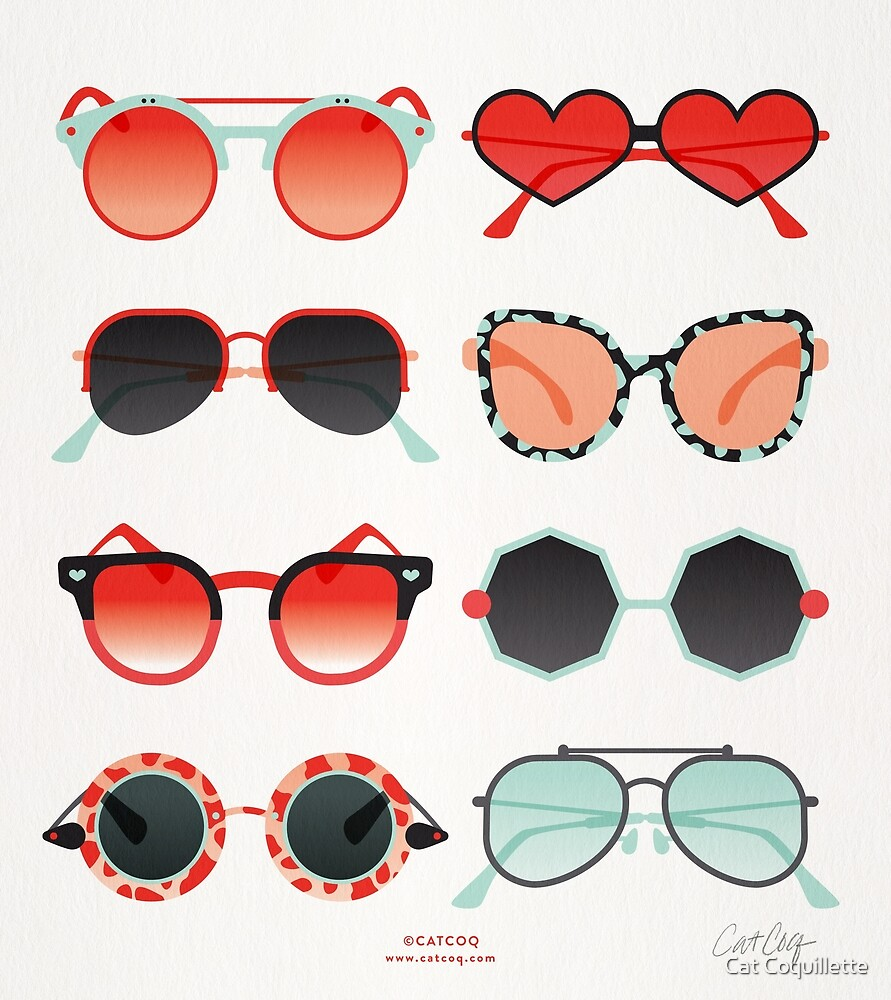 Sunglasses Collection – Red & Mint Palette by Cat Coquillette