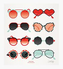 Sunglasses Collection – Red & Mint Palette Photographic Print