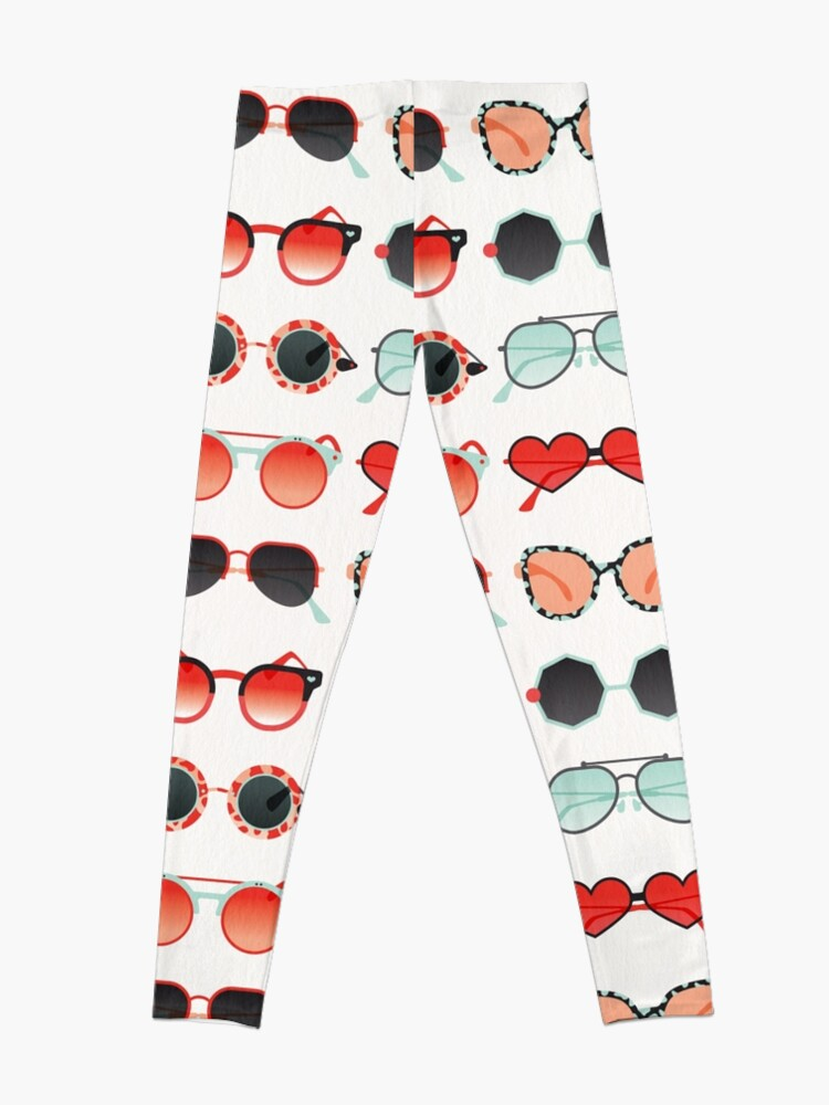 Alternate view of Sunglasses Collection – Red & Mint Palette Leggings