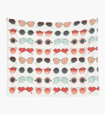 Sunglasses Collection – Red & Mint Palette Wall Tapestry