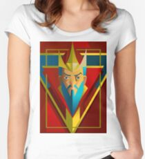 geometric royal king Women's Fitted Scoop T-Shirt