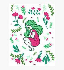 Garden Girl Photographic Print