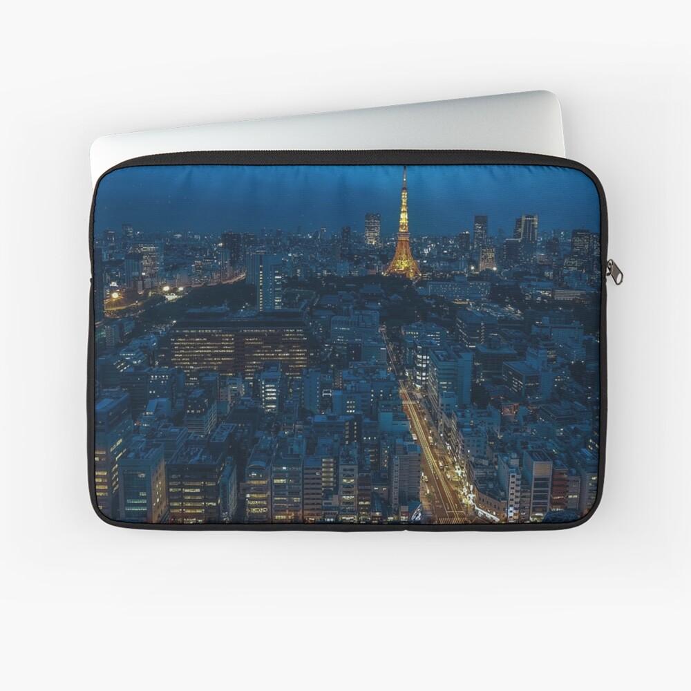Tokyo Night Skyline Laptop Sleeve