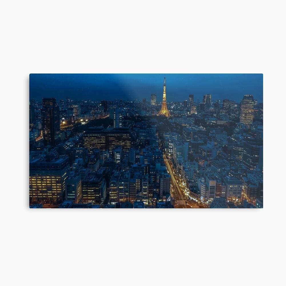 Tokyo Night Skyline Metal Print