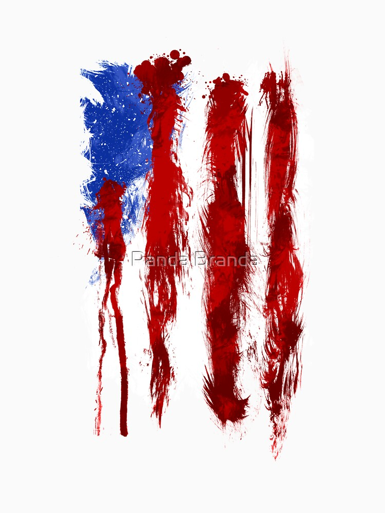 USA Blood Flag Art Design by CrusaderStore