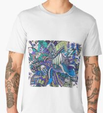 Bouquet in Blue and Green Men's Premium T-Shirt