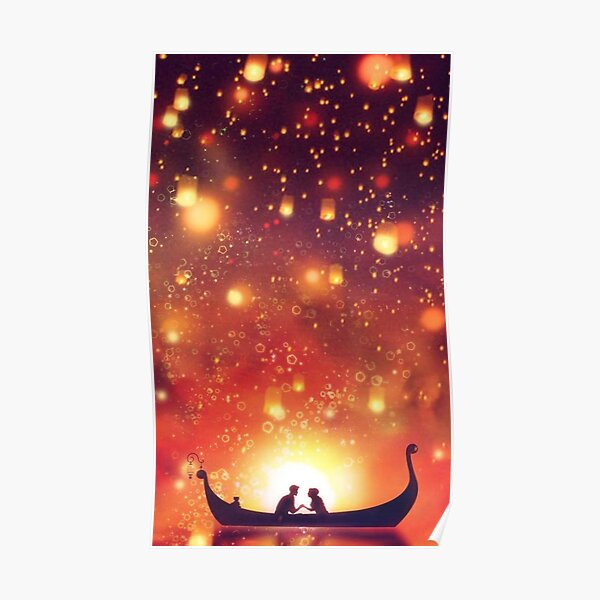 Lanterns Rapunzel Tangled Posters Redbubble