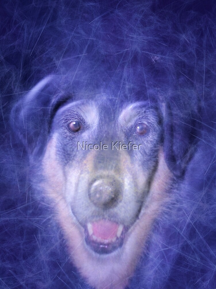 Dog in blue smoke by NicoleK-design