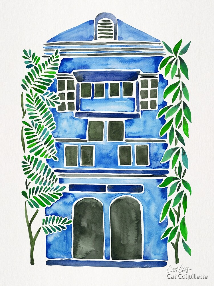 Tropical Blue House by Cat Coquillette