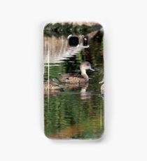 Grey Teals (117) Samsung Galaxy Case/Skin