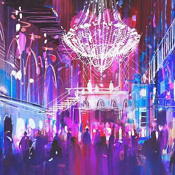 Ballroom Lights Painting by bFred