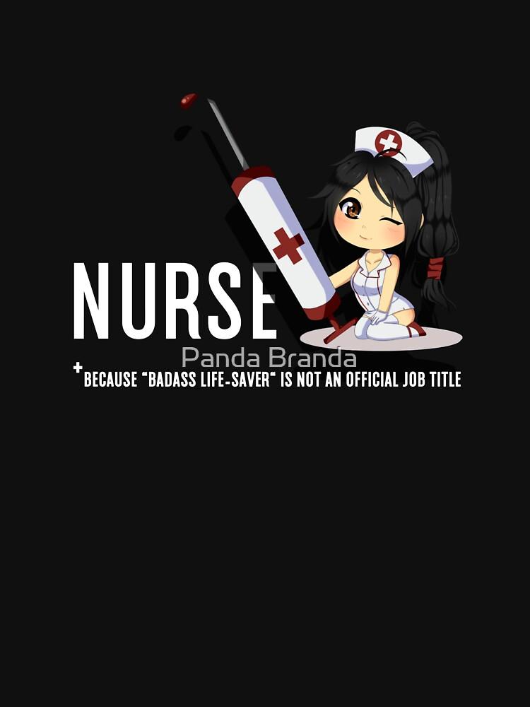 Bad Ass Lifesaver For Nurse Art Design by CrusaderStore
