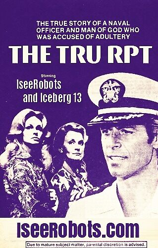 The TRU RPT 8 0'Clock Movie Sticker A Man Of God Accused  by IseeRobots