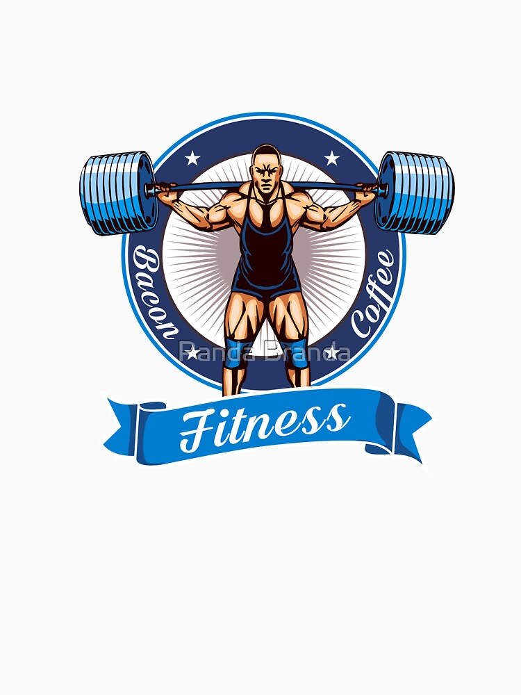 Bacon Coffee Fitness Art Design by CrusaderStore
