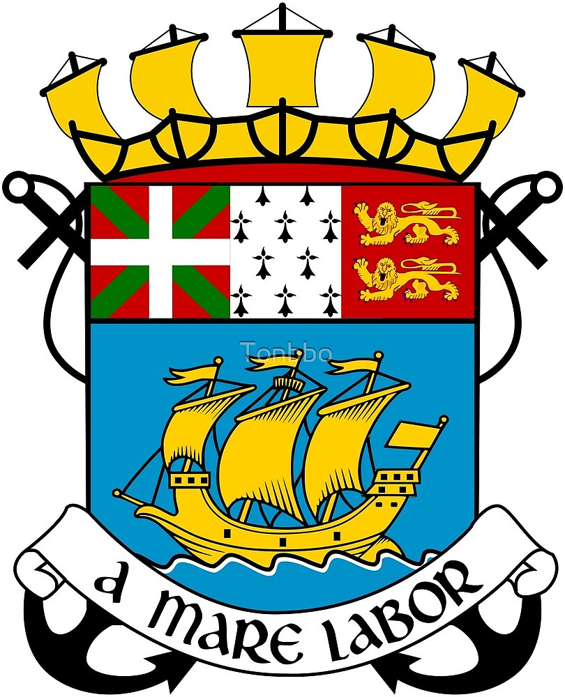 Saint Pierre and Miquelon Coat of Arms by Tonbbo