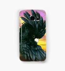 Black Cockatoo 2 - sunset Samsung Galaxy Case/Skin