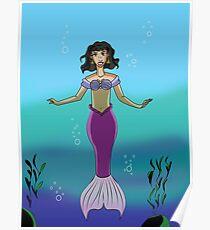 Mermaid Deep Blue Sea Poster