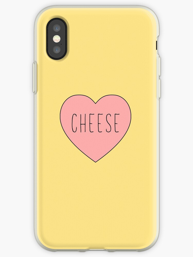 I Love Cheese Pink Heart  |Yellow Variant by thepinecones