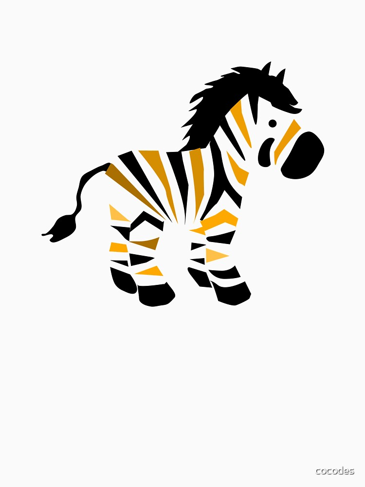 Zebra with black and yellow stripes by cocodes