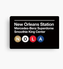 New Orleans Pro Sports Subway Sign Canvas Print