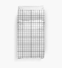 Raster - Schwarz und Weiß Einfache Linien Bettbezug Tagesdecke Bettbezug