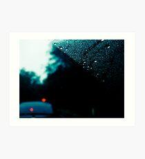 rainy day commute 2 Art Print