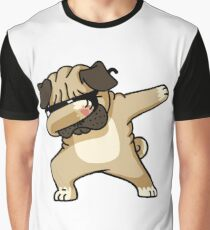 Dabbing Pug Funny - Dog Lovers Graphic T-Shirt