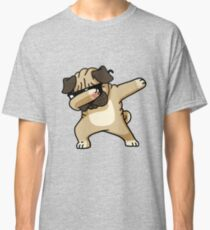 Dabbing Pug Funny - Dog Lovers Classic T-Shirt