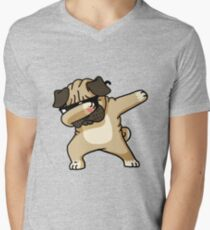 Dabbing Pug Funny - Dog Lovers Men's V-Neck T-Shirt