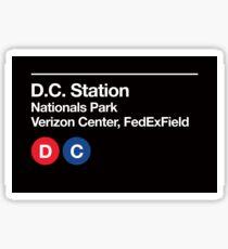 Washington D.C. Pro Sports Subway Sign Sticker