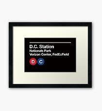 Washington D.C. Pro Sports Subway Sign Framed Print