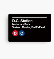Washington D.C. Pro Sports Subway Sign Canvas Print