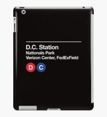 Washington D.C. Pro Sports Subway Sign iPad Case/Skin