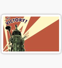 Doctor Who - To Victory! Sticker